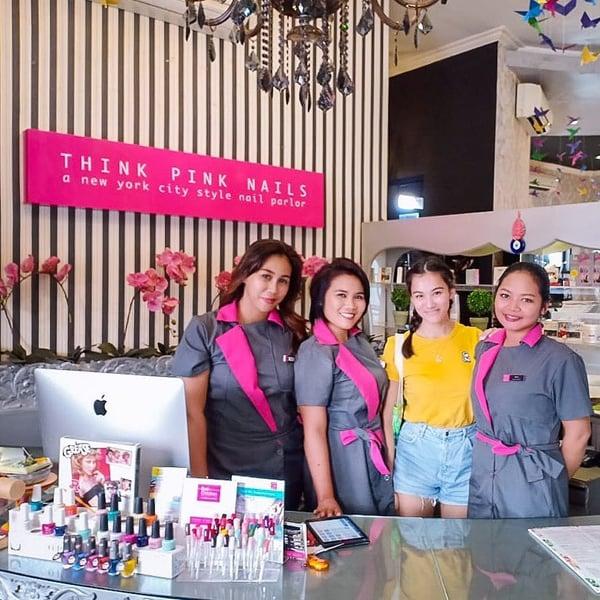 Think Pink Nails Bali