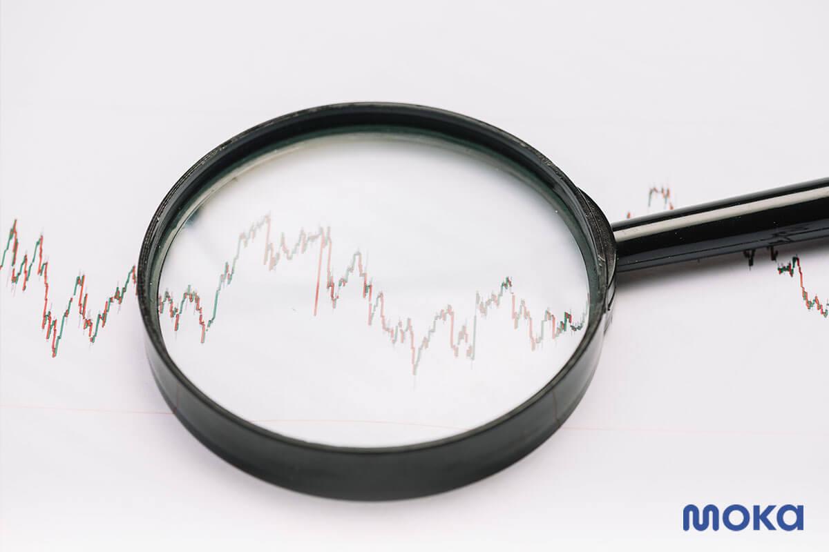 ilustrasi bisnis menurun - saham