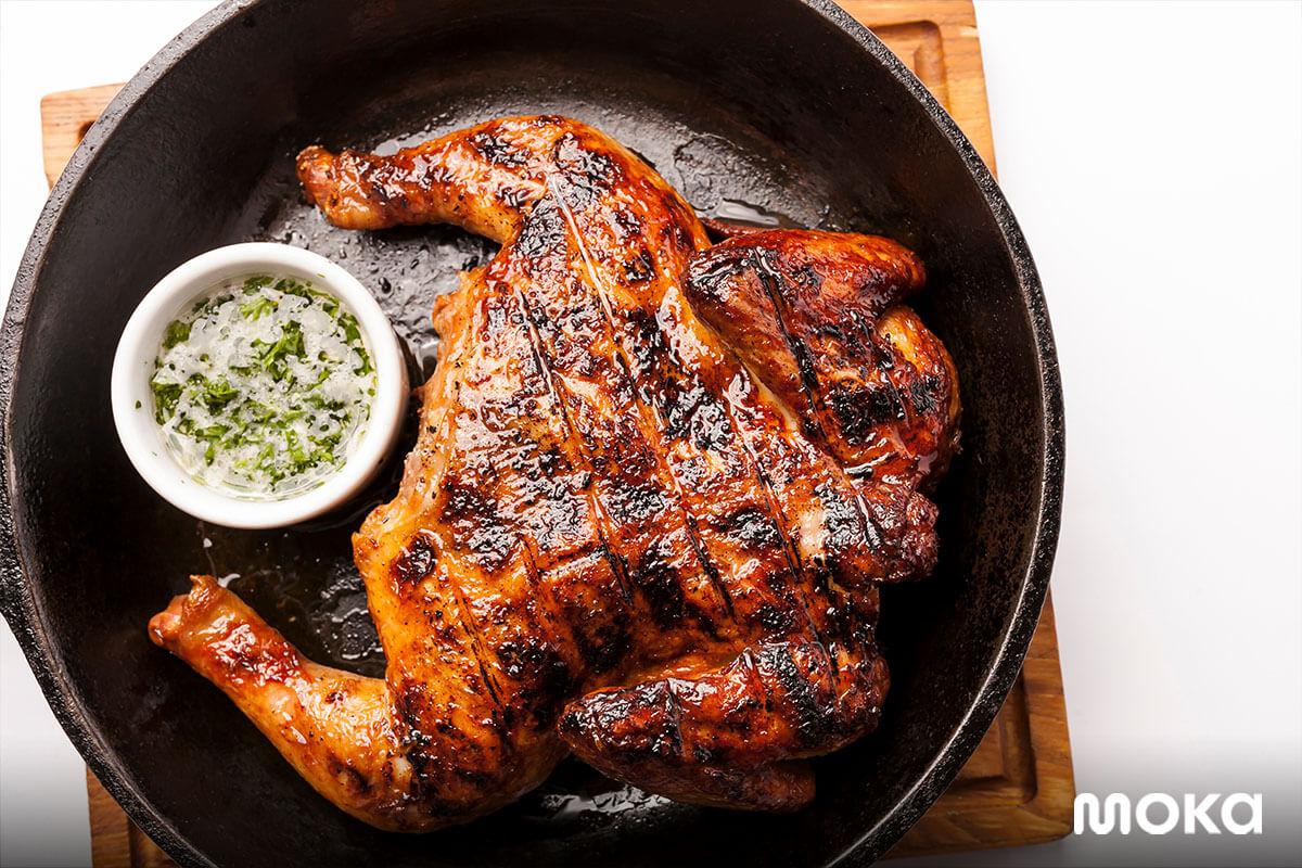 inspirasi foto makanan yang enak - ayam panggang