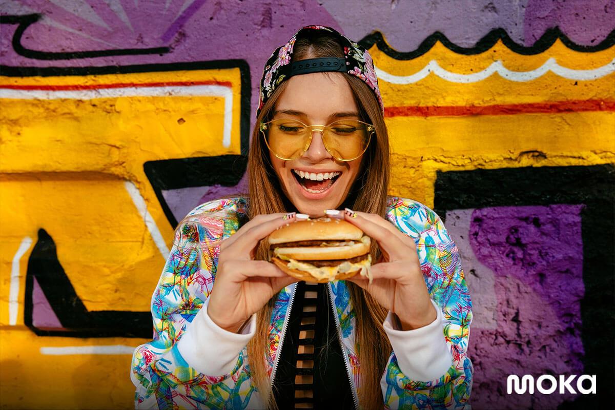inspirasi foto makanan yang enak - makan burger
