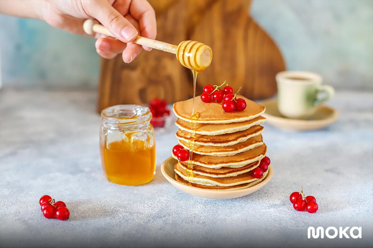 inspirasi foto makanan yang enak - pancake