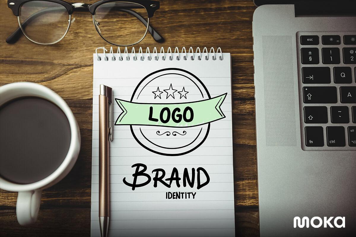 logo dan brand bisnis - desain logo toko online