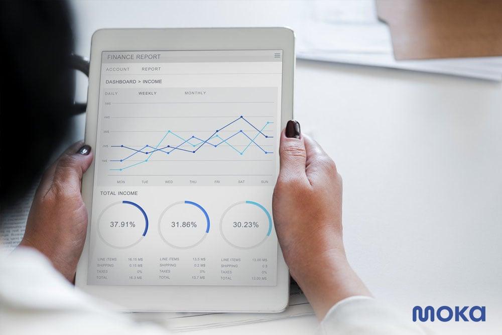 melihat laporan penjualan - aplikasi pembukuan toko untuk bisnis