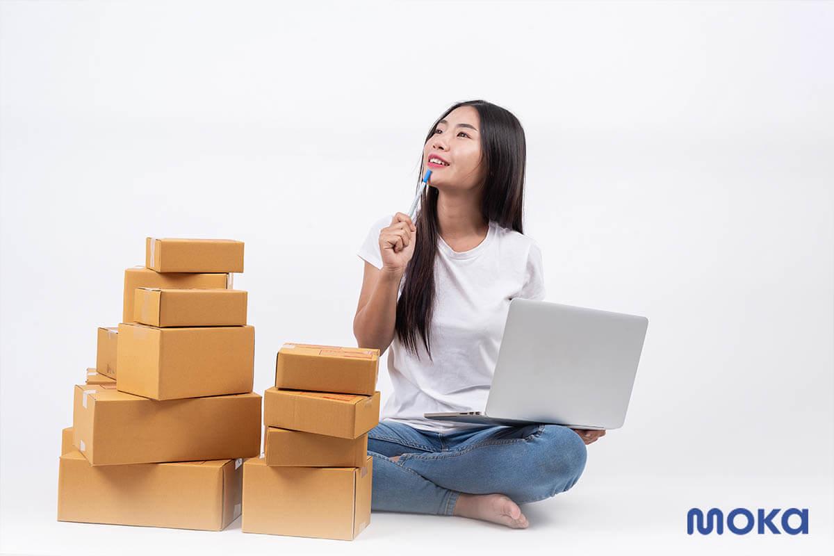mengirim barang - pebisnis online
