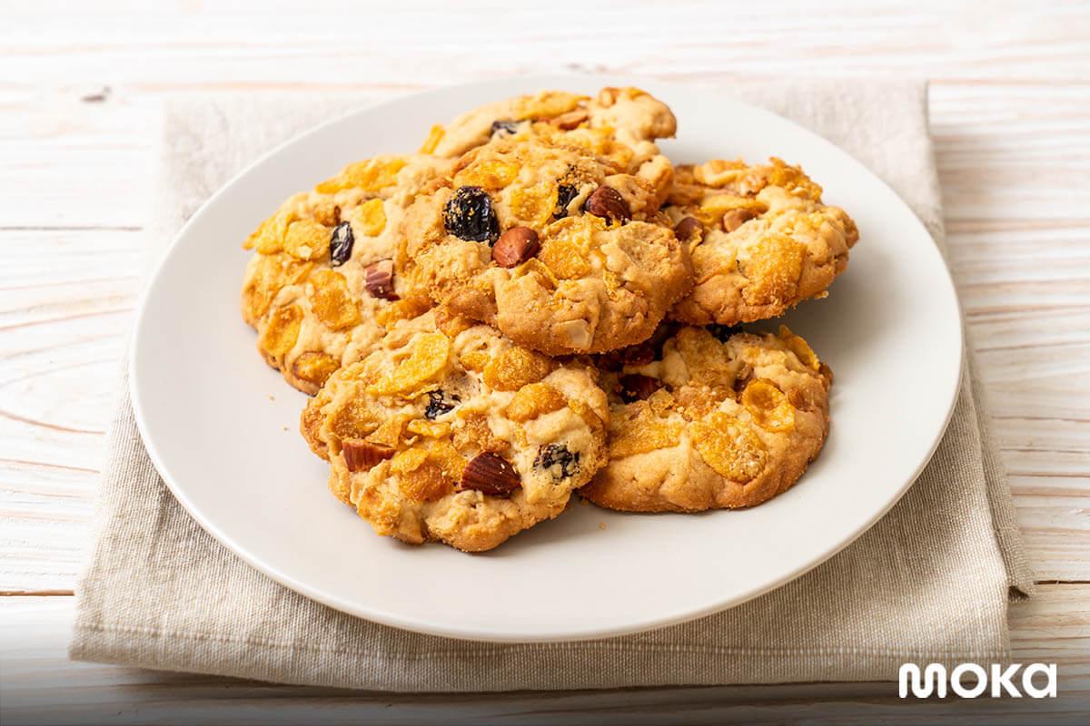 resep kue kering lebaran - cornflake cookies