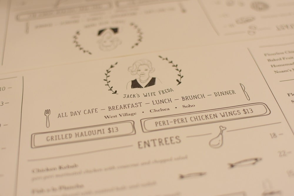 gunakan nama menu yang unik pada desain menu makanan